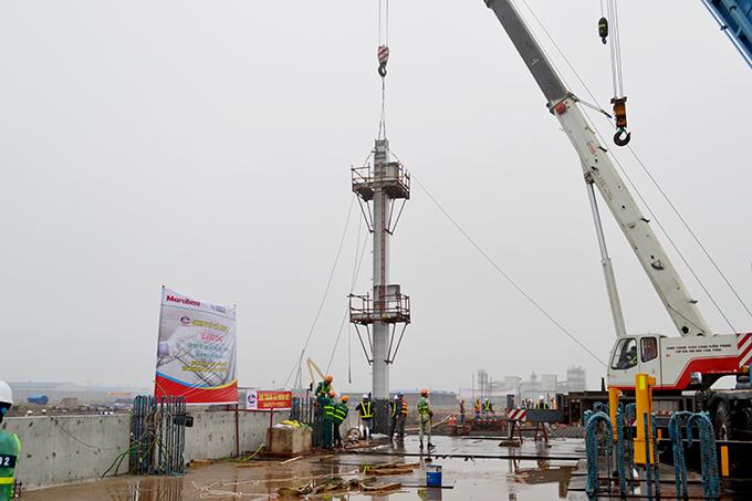 Khởi công lắp đặt nhà tuabin nhà điều khiển trung tâm dự án nhà máy nhiệt điện Thái Bình 1