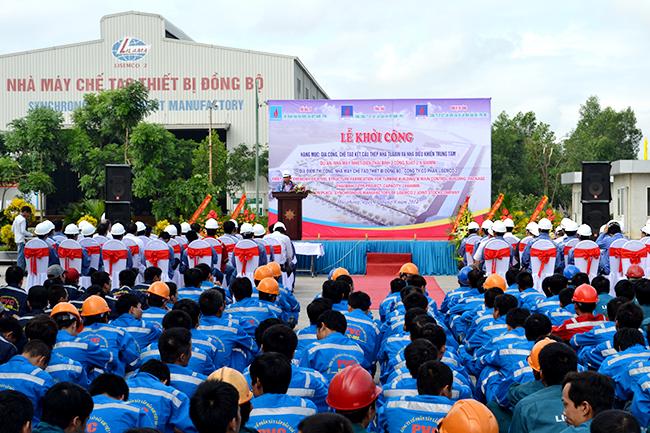 Lễ khởi công gia công hạng mục gcct kct nhà tuabin và nhà đktt thuộc dự án nhiệt điện Thái Bình 2