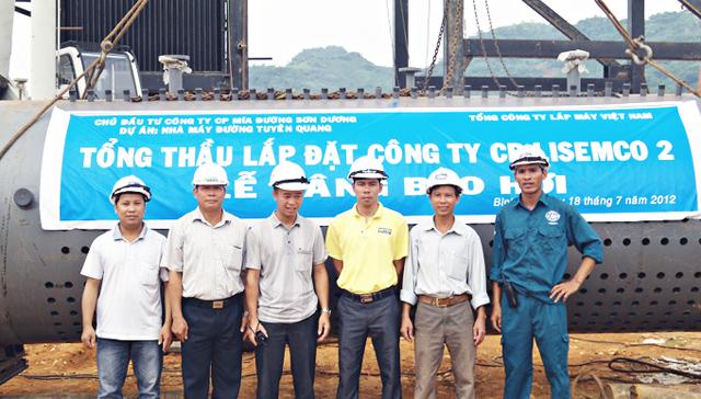Lắp đặt lò hơi nhiệt điện nhà máy đường Tuyên Quang