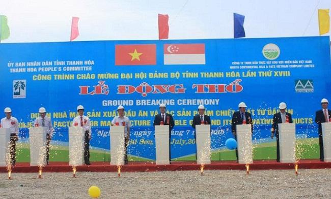 Thanh Hóa khởi công nhà máy dầu ăn lớn nhất cả nước