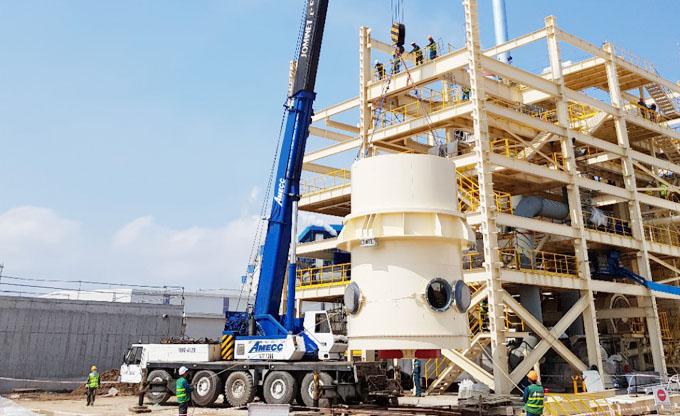 AMECC bước vào giai đoạn hoàn thiện dự án Nhà máy thạch cao trọng lượng nhẹ tại Hải Phòng
