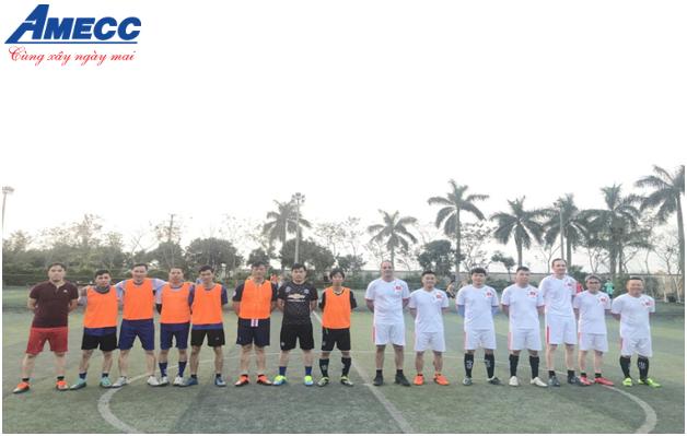 Giao hữu bóng đá giữa CÔNG TY CỔ PHẦN CƠ KHÍ XÂY DỰNG AMECC với khách hàng