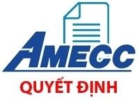 Quyết định của HĐQT Công ty CP cơ khí xây dựng AMECC về việc chấm dứt hoạt động của Chi nhánh Lisemco 2-1