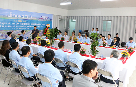 Lễ động thổ dự án nhà Hangar số 3 Cảng hàng không Quốc tế Nội Bài.