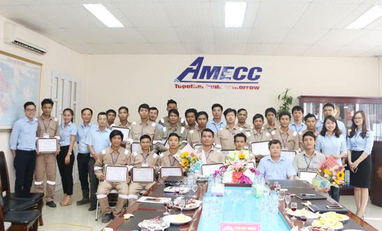 AMECC TỔNG KẾT KHÓA ĐÀO TẠO ĐỢT 2 CHO NHÀ MÁY KẾT CẤU THÉP TẠI MYANMAR